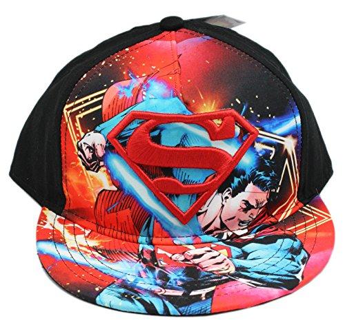 DC Comics Superman S Symbol and Graphic Snapback Adjustable Cap