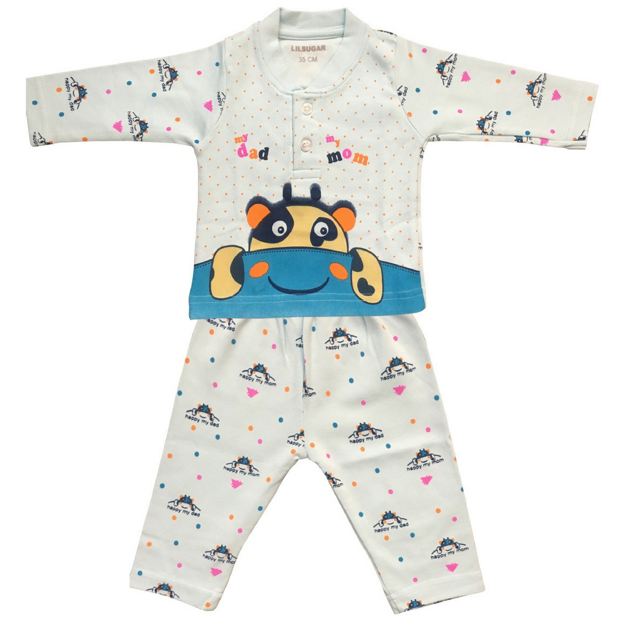 0e533666c3b1 Lilsugar Baby Boys Full Sleeves Night Suit - Infants Full Sleeves ...