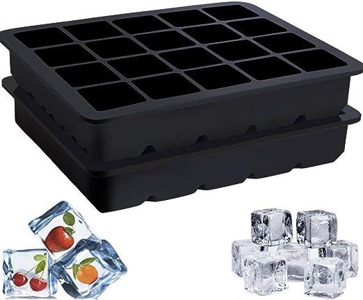 2 Pack Silicona molde para cubitos 20 Jumbo 2,5 x 2,5 cm Bandejas ...
