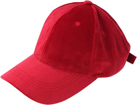 Solid Velvet Baseball Caps Adjustable Outdoor Trucker Hat for Women Men