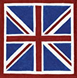 Caspari Union Jack Paper Cocktail Napkin, 40 Count