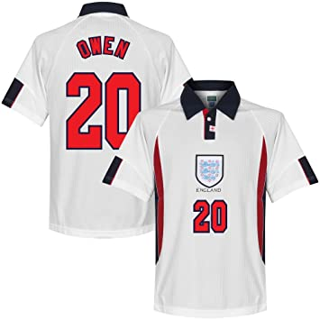 1998 England Home Owen No20 World Cup Retro Shirt  Amazon.co.uk ... e26533a2d