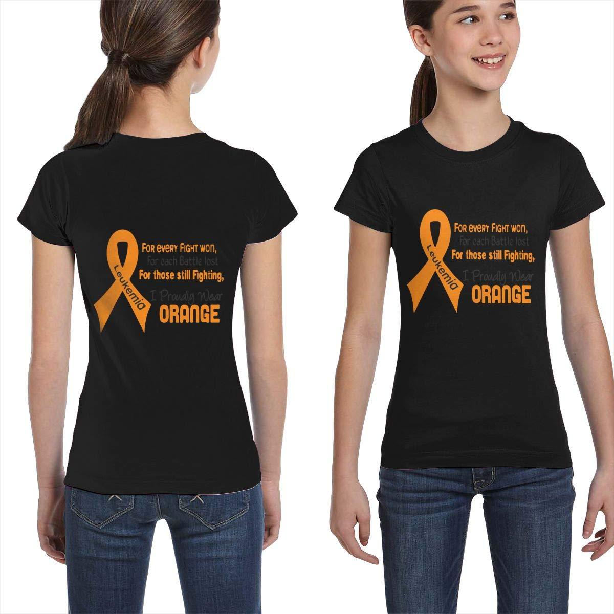 L6Nv4o@A Girls Short Sleeve Leukemia Awareness Shirts XS-XL Casual Tunic Shirt Dress