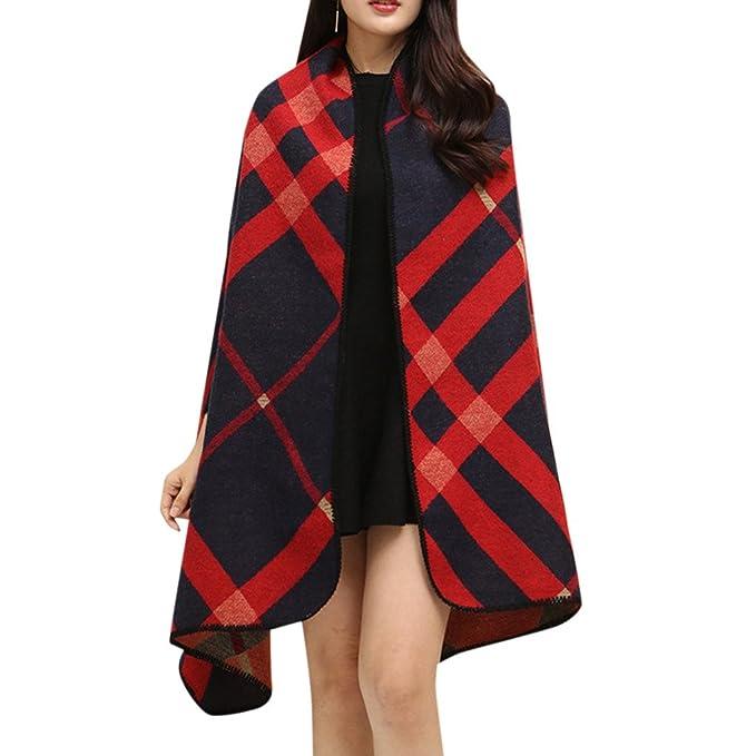 MNBS Mujeres Elegant cuadros de Bufandas Estolas Fulares Chales grandes abrigos-D3: Amazon.es: Ropa y accesorios