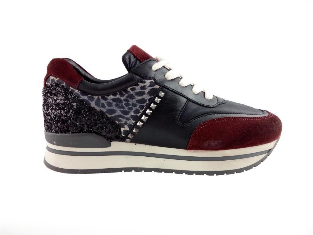 Janet sport Zapatillas Para Mujer Nero/Panna/Bordeaux 38 EU 38 EU|NERO/PANNA/BORDEAUX