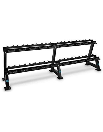 Capital Sports bellbed Dumbbell Rack soporte para mancuernas, soporte para halteras (20 estantes,
