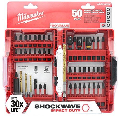 Milwaukee Shockwave Impact Duty Driver Bit Set (50-Piece) 48-32-4024