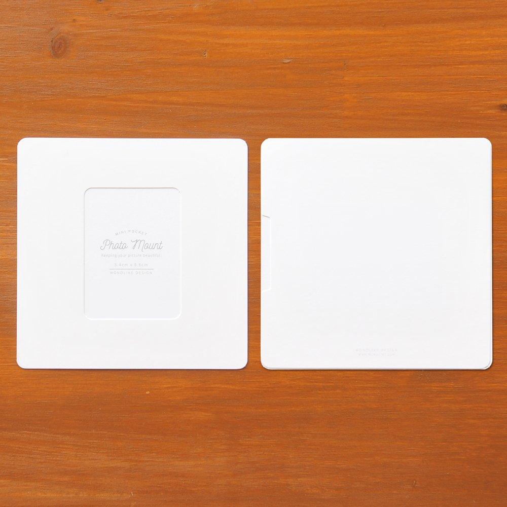 Fits Mini Polaroid Size Clips and Rope Monolike DECOSET PHOTOMOUNT Mini White with Paper Photo Frames