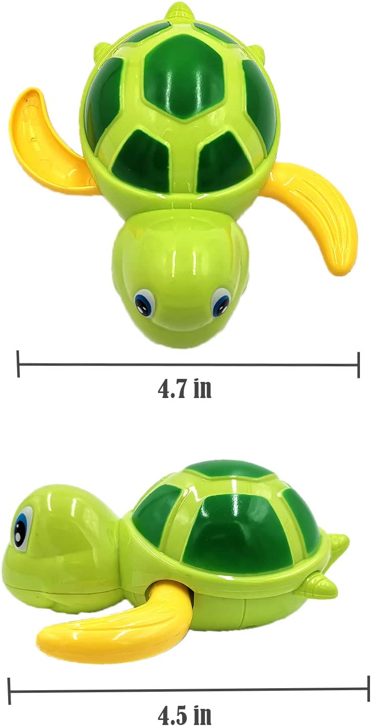 Bath Toys Gifts for 1-6 Year Old Toddlers Boys Girls,Baby Bathtub Wind up Turtle Toys for 3-36 Months Baby Gifts for 1-5 Year Old Boys