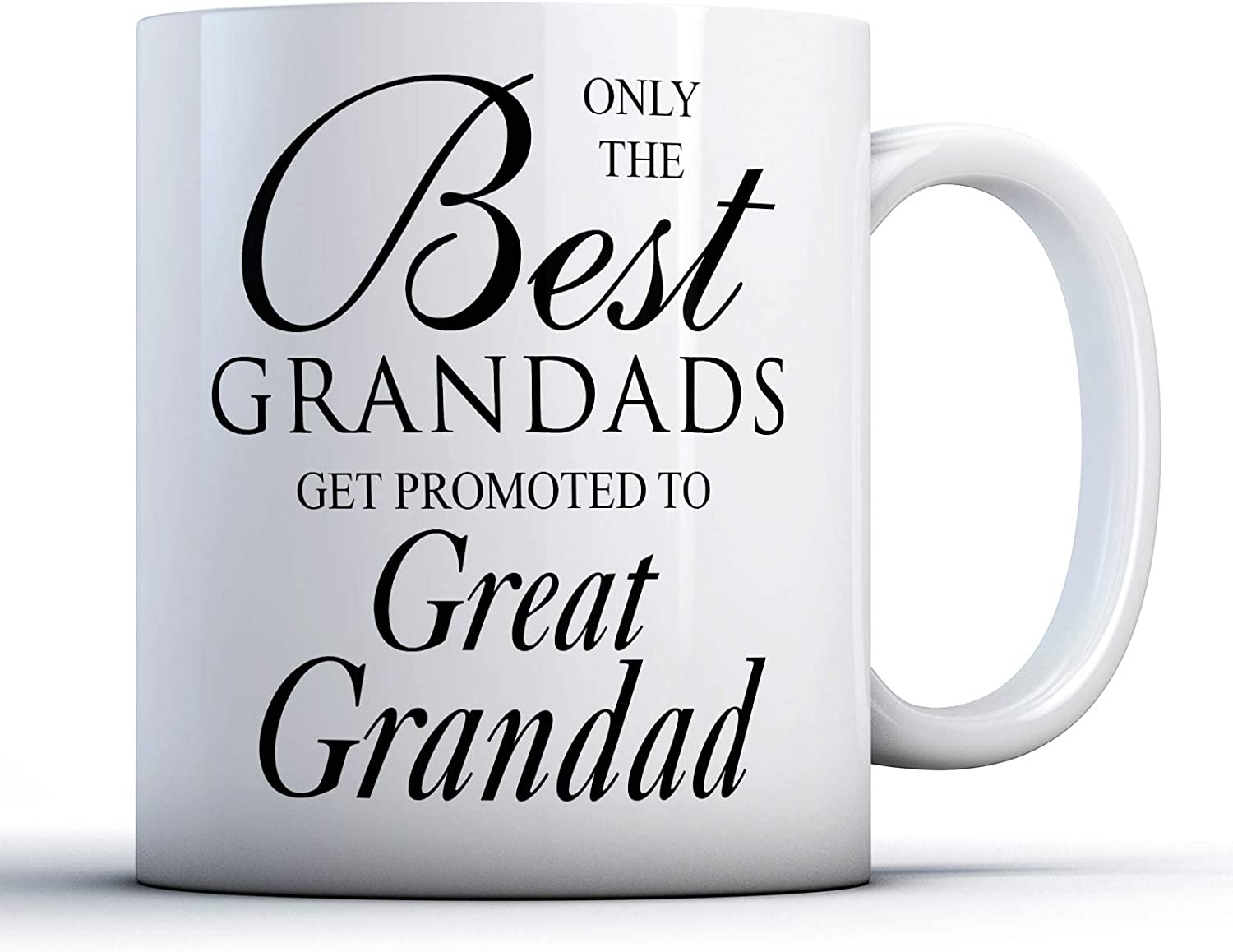 Only The Best Grandads Get Promoted To Great Grandad Printed Mug By Finger Prints Amazon Co Uk Kitchen Home