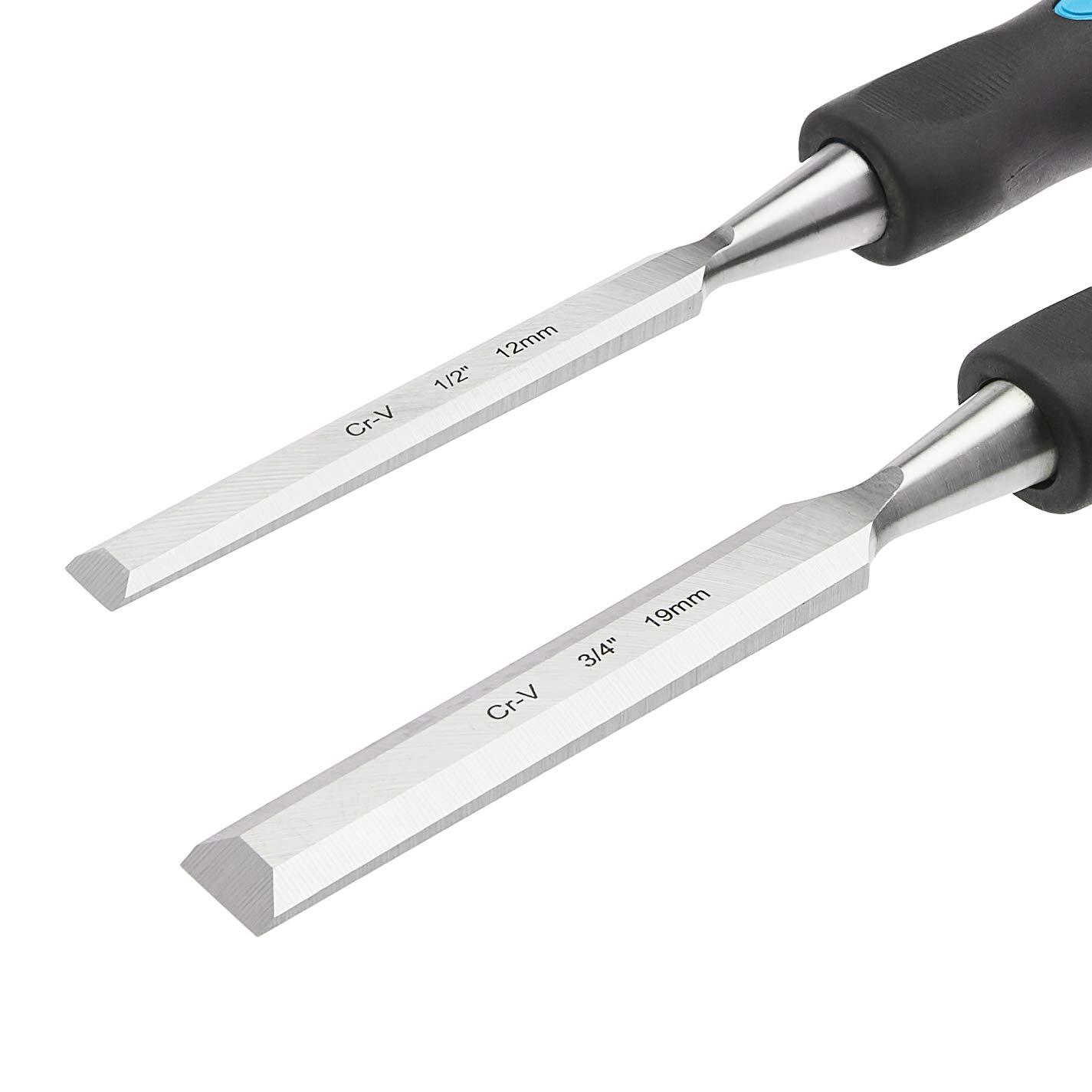 Basics a 1-1//4 13 mm Set di 4 scalpelli per la lavorazione del legno 32 mm da 1//2