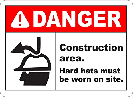 Etiqueta - Seguridad - Advertencia - Hard Hats Must Be Worn ...