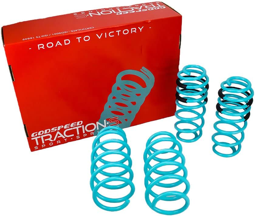 Godspeed LS-TS-HA-0015 Traction-S Performance Lowering Springs Improved Handling Reduce Body Roll Set of 4