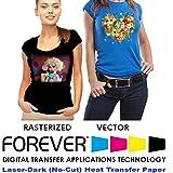 "Forever Laser Dark No-Cut A+B Paper 8.5"" X 11""- 25 Sheets Heat Transfer Paper"