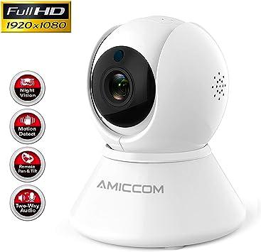 Amazon.com: Cámara WiFi para mascotas-1080P sistema de ...
