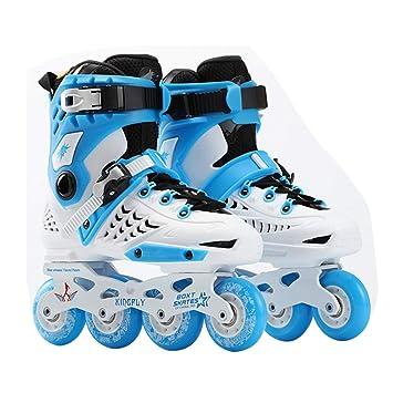 Wafalano Zapatos de una Sola Fila de Patinaje Sobre Ruedas Patines Rectos para Adultos Patines en línea Patines Profesionales Universal para Hombres y ...