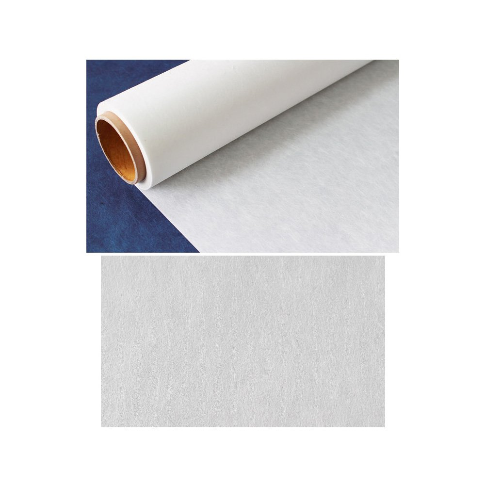 Korean Traditional Mulberry Paper HanJi Acrylic Coated Natural Mulberry Fibers Natural White 38.6'' x 590.6''