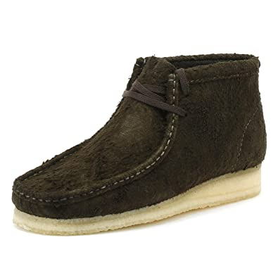 Clarks Originals Wallabee Uomo Dark Verde Stivali UK 6