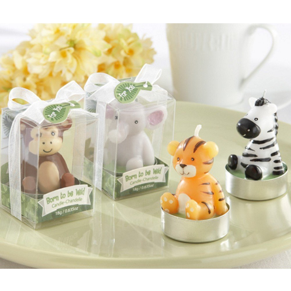 Born To Be Wild Animal Tealight Candles (Set of 48 Assorted) by KA