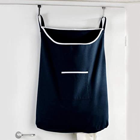 Home Laundry Hamper Over Door Hanging Large Capacity Storage Dirty Clothes Bag