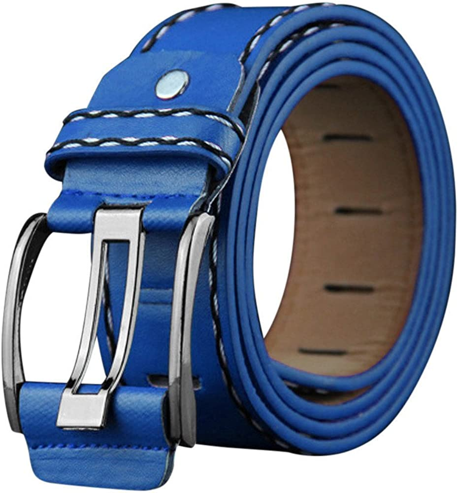 Luxury Leather Belt,Kanhan❤️ Fashion Mens Leather Smooth Girdle Buckle Waistband Waistband Leisure Belt Strap