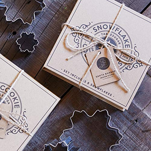Creative Brands Holiday Cardboard Book Cookie Cutter Gift Set, 6-Pieces, Snowflakes