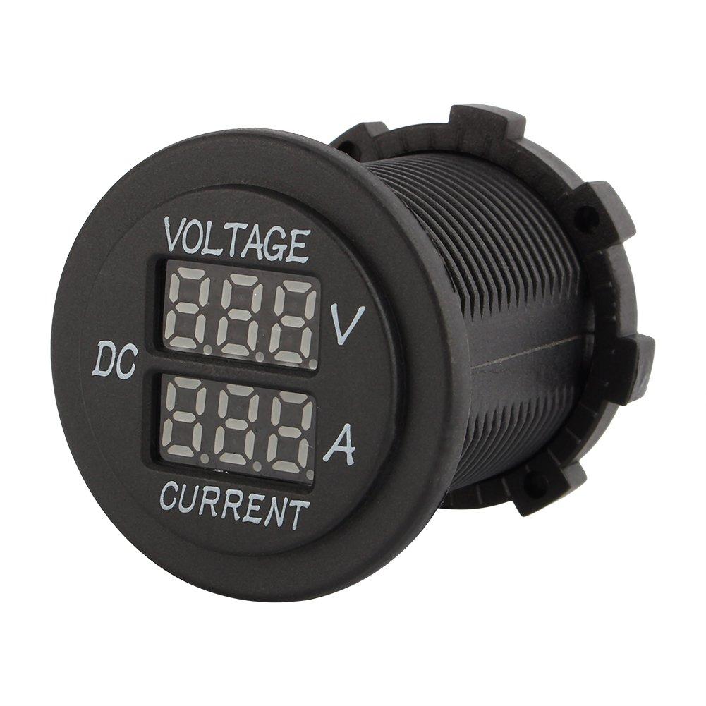 Qiilu DC 12-24 double LED voltm/ètre num/érique amp/èrem/ètre voie m/étrique voiture