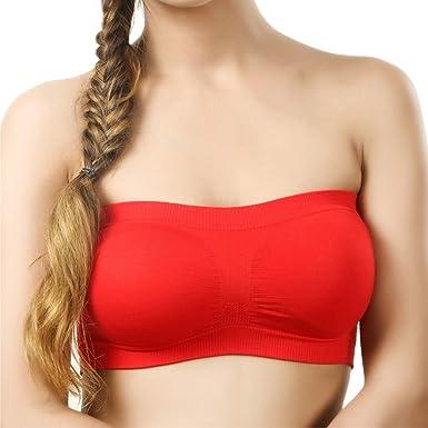 Red tube bra