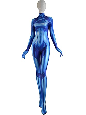 Zero Suit Samus Cosplay Costume Samus Aran Suit Metriod Costume Samus Zero Suit Costume