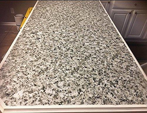 Light White Granite Look Marble Gloss Film Vinyl Self Adhesive Counter Top Peel