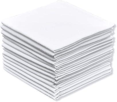 Pure Cotton Mens Handkerchief//Hankies with Hem White