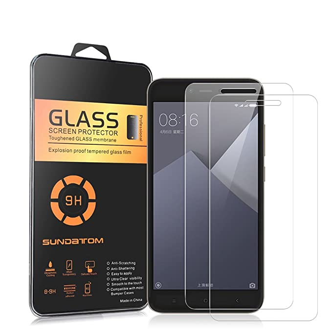 REDMI NOTE 5A PRIME Y1 LITE Cristal Vidrio Templado Premium Electr/ónica Rey/® XIAOMI Y1 Protector de Pantalla para XIAOMI REDMI NOTE 5A