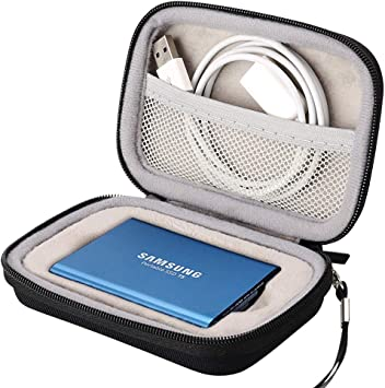 XANAD Case for Samsung T5 T3 Portable SSD 1TB 2TB 250GB 500GB External Solid State Drives Storage Travel Carrying Bag