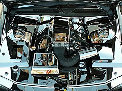 Amazon.com: American Car Craft Ford Mustang 2005 2006 2007 2008 2009 GT V6 V8 Chrome Firewall Trim Engine Bay Dress Up Kit: Automotive