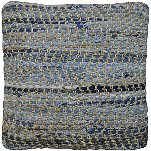 Earth First Jeans Denim and Hemp Pillow, 18-Inch, Blue (Denim Throw)