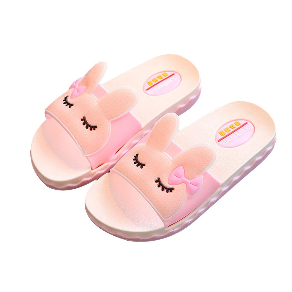 IUU Mom-Baby Slippers Cute Girl Rabbit Sandals Bath Slippers Non-Slip Slippers