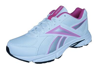 70b4f03bc7c5e4 Reebok Tranz Runner RS White Pink Womens   Junior Running Shoes Size UK 4