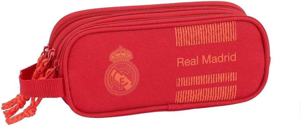 Real Madrid Manualidades/Escolares Unisex Adulto Estuche portatodo Triple Red 3 3 equipacion 18/19 811957-635, Multicolor, Talla única: Amazon.es: Oficina y papelería