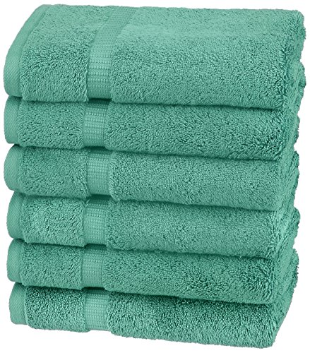 Pinzon Organic Cotton Hand Towels , Mineral Green
