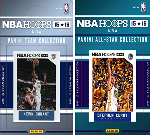 NBA Oklahoma City Thunder Licensed 2015-16 Hoops Team Plus All-Star Trading Card Set by C&I Collectables