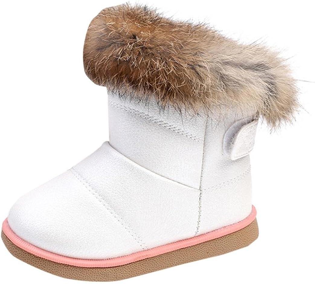 Primeros Pasos Zapatos bebé Niña Niño Invierno bebé niños niñas Zapatos de Cuero Botas Zapatos Calientes 1-3 Años