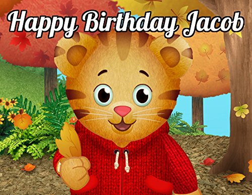 Daniel Tiger's Image Photo Cake Topper Sheet Personalized Custom Customized Birthday Party - 1/4 Sheet - 74068 Daniel No Sugar