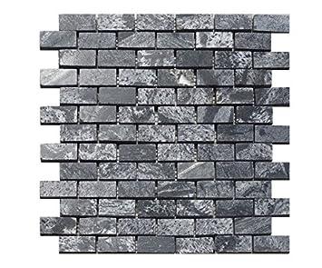 1 red de piedra natural mosaicos pizarra aspecto metálico de ...