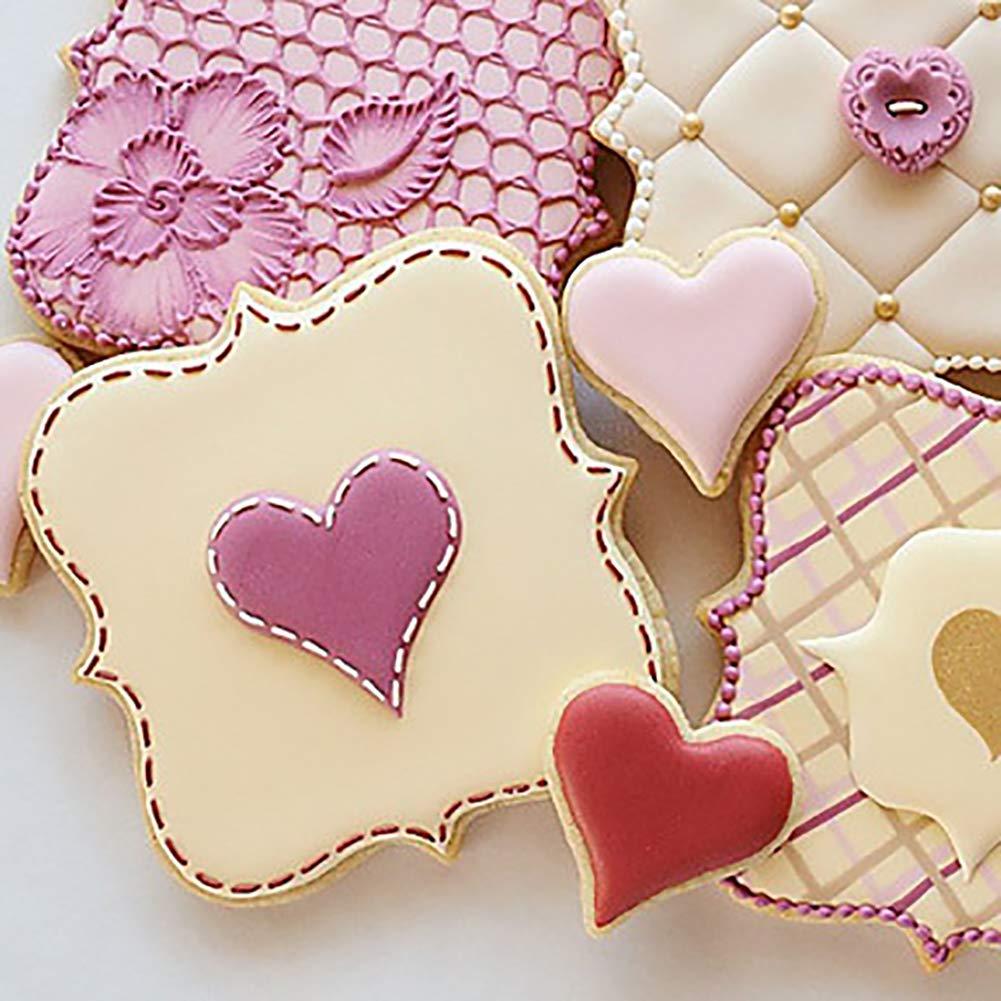 Yinlibo111 Molde de acero inoxidable para galletas molde cortador de galletas de chocolate molde para hornear pasteles marco de deseos