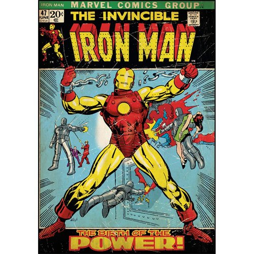 RoomMates RMK1662SLG Iron Man Peel and Stick Comic Book -
