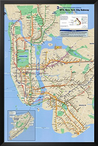 New York City Subway Framed Poster 26 x ()