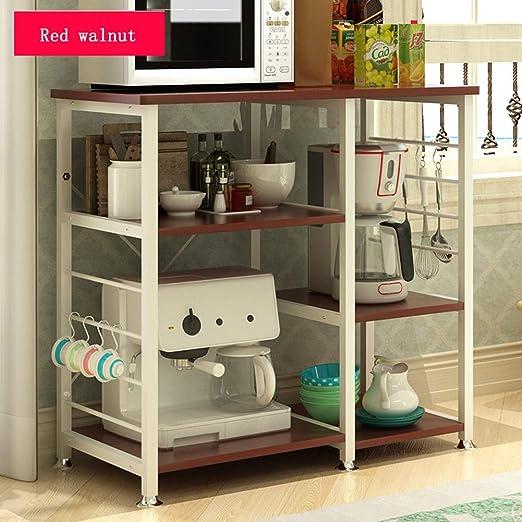 Estante de la panadería de la cocina Base de nogal rojo para uso ...