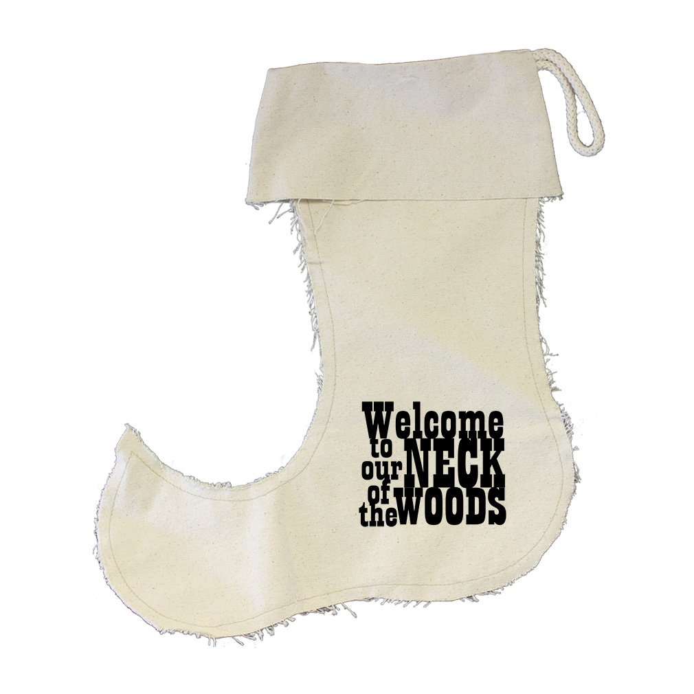 Welcome To Ur Neck Of The Woods Cotton Canvas Stocking Jester - Small