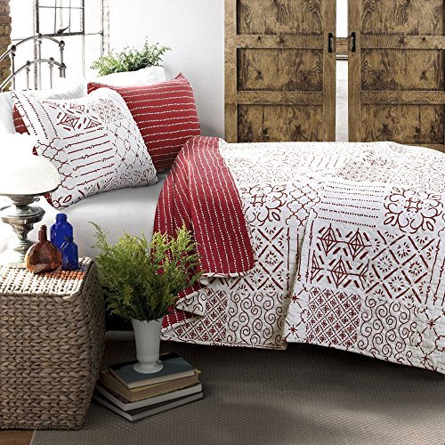 Lush Decor Lush Décor Monique 3Piece Quilt Set, King, Red
