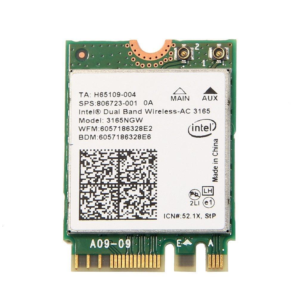 Intel 3165 3165NGW 3165AC Dual Band Wireless AC + BT4.0 Mini NGFF WiFi Card 802.11AC 3165 (10 Pack) by Bulk Pack